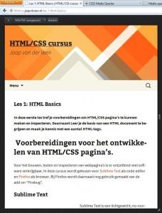 Een screenshot van htmlcss.jaapvdveen.nl bij een resolutie van 640px bij 768px